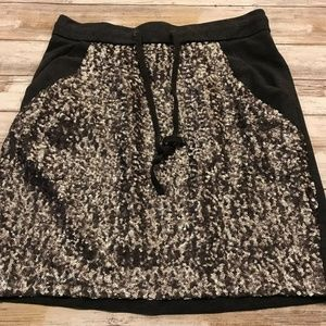 ANN TAYLOR  DRAW STRING Sequined Skirt Sz XS